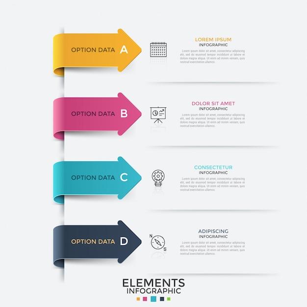 Moderne infografik-vorlage Premium Vektoren