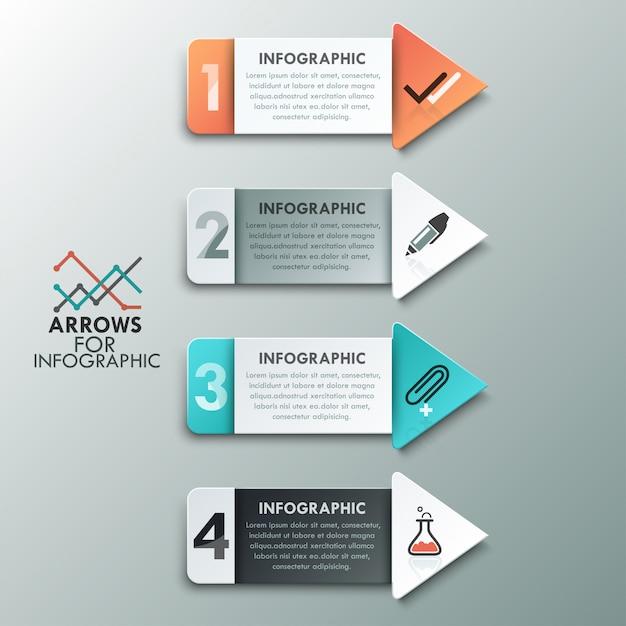 Moderne infografiken optionen banner Premium Vektoren