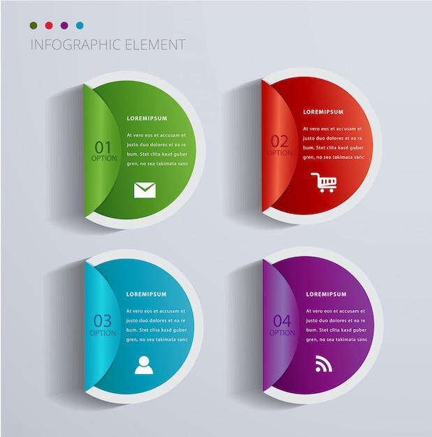 Moderne infographik element banner. Premium Vektoren