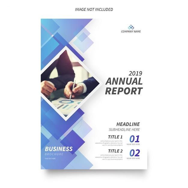 Moderne jahresbericht-broschüren-schablone Kostenlosen Vektoren