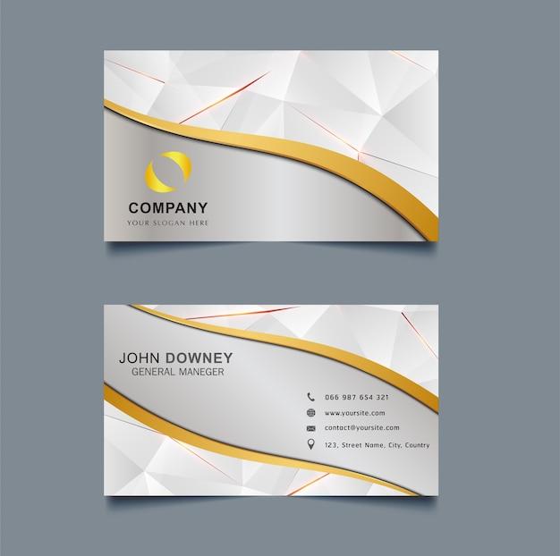 Moderne Kreative Visitenkarte Vorlage Doppelseitig Premium