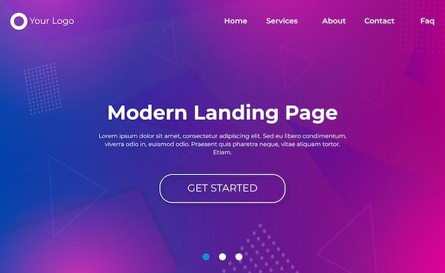 Moderne landingpage-vorlage Premium Vektoren