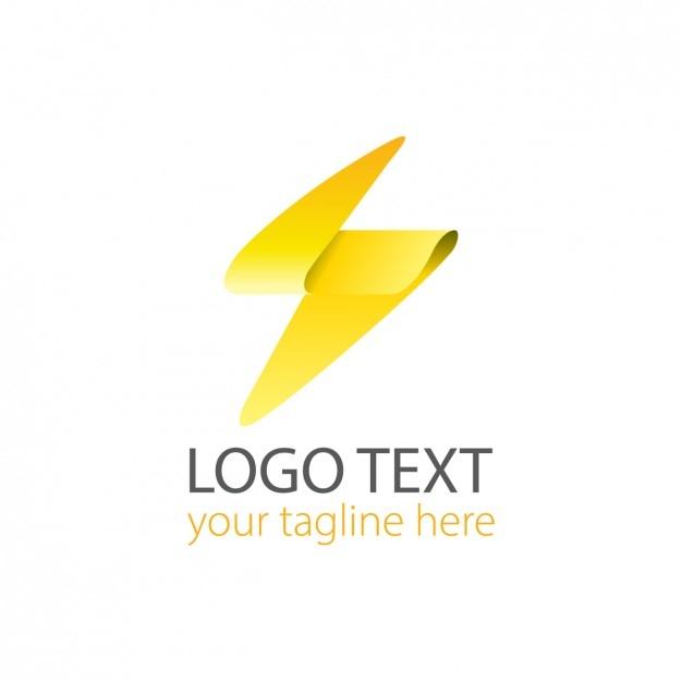 Moderne leuchten logo Kostenlosen Vektoren