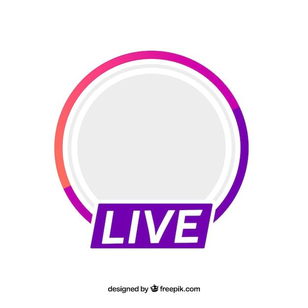 Moderne live-streaming-symbol mit flachem design Kostenlosen Vektoren