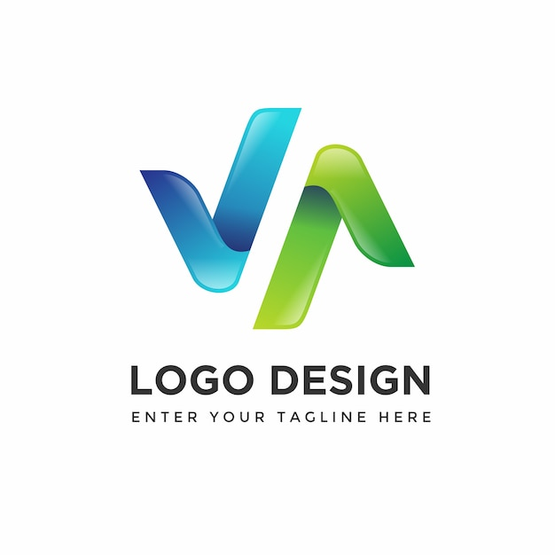 Moderne logo design vorlagen Premium Vektoren