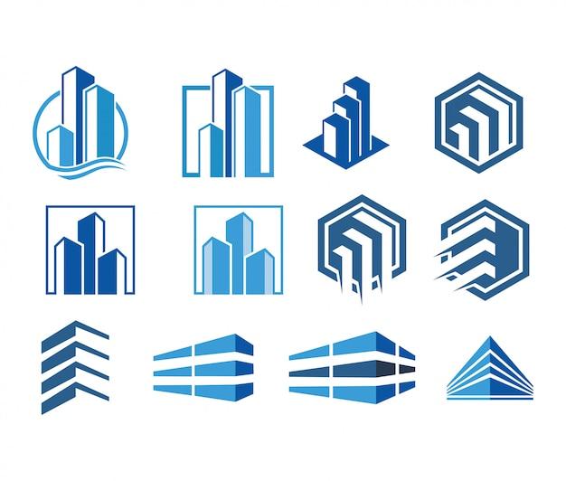Moderne logo-sammlung vektor immobilien Premium Vektoren