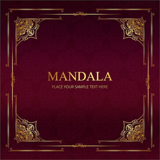 Moderne Mandala Hintergrund Kostenlose Vektoren