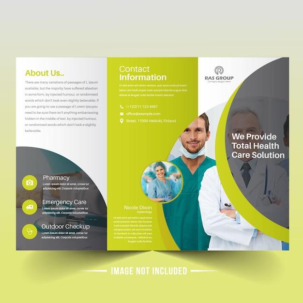 Moderne medizinische trifold broschüre Premium Vektoren