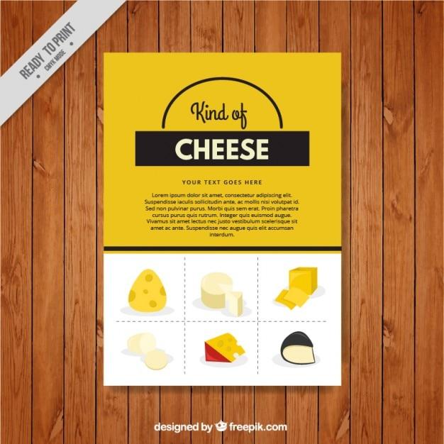 Moderne menü von käse Kostenlosen Vektoren