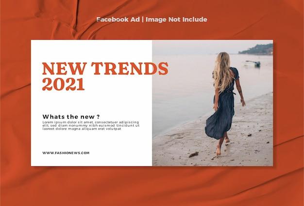 Moderne mode neues design für facebook-anzeigenvorlagen Premium Vektoren