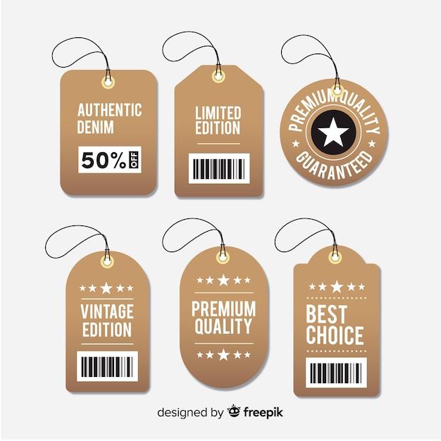 Moderne outlet-badge mit flachem design Kostenlosen Vektoren