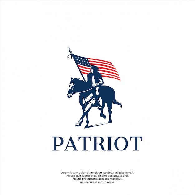 Moderne patriot logo vorlage Premium Vektoren