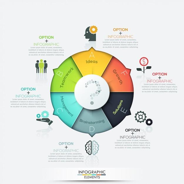 Moderne pfeil geschäft infografiken elemente Premium Vektoren