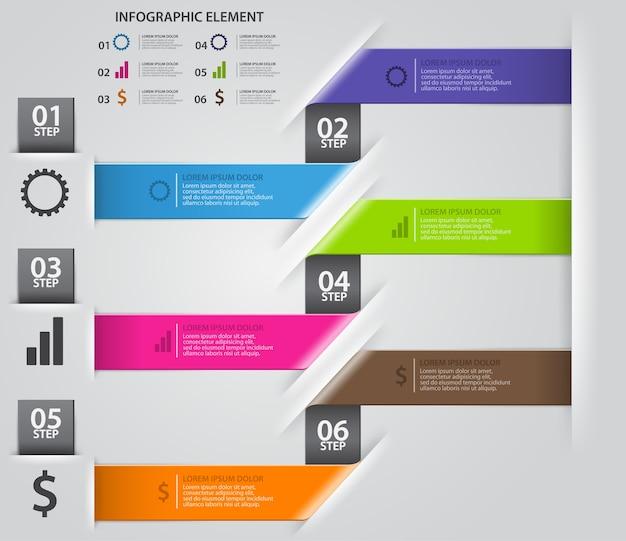 Moderne pfeilorigamiart verstärken optionsfahne Premium Vektoren
