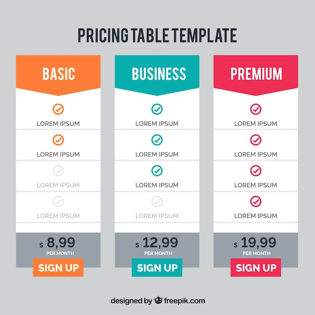 Moderne Preis Banner-Vorlage | Download der kostenlosen Vektor
