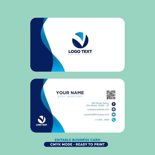 Moderne professionelle Visitenkarte Kostenlose Vektoren
