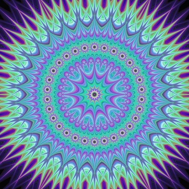 Moderne psychedelischen hintergrund Kostenlosen Vektoren