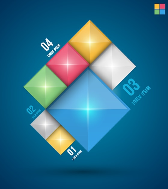 Moderne quadrate design banner Premium Vektoren