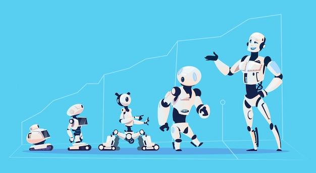 Moderne robotergruppe Premium Vektoren