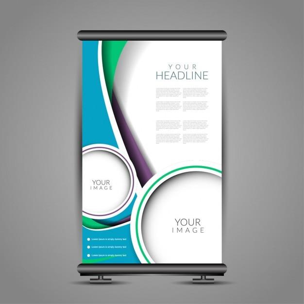 Moderne roll up banner vorlage standdesign Kostenlosen Vektoren