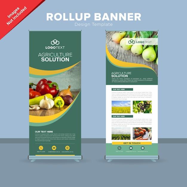 Moderne rollup-banner-design-vorlage Premium Vektoren