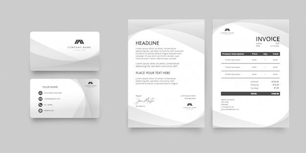 Moderne saubere briefpapier-pack-vorlage Kostenlosen Vektoren