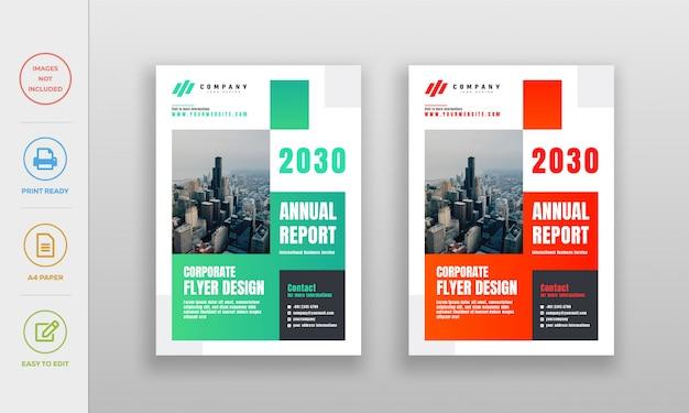 Moderne saubere unternehmens-, firmenjahresbericht-flyerplakat-entwurfsschablone Premium Vektoren
