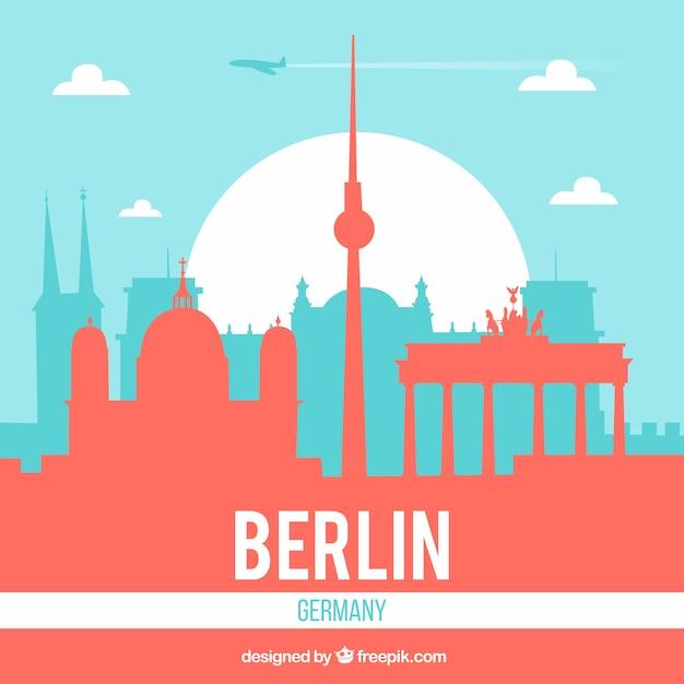 Moderne skyline von berlin Kostenlosen Vektoren