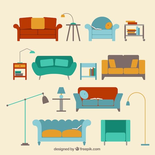 Moderne Sofas Sammlung Premium Vektoren