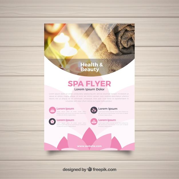 Moderne spa-flyer-vorlage Kostenlosen Vektoren
