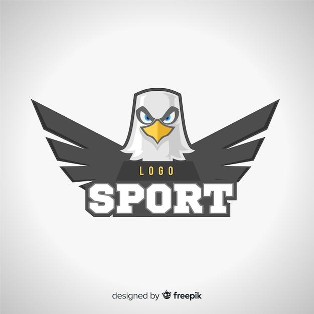 Moderne sport logo vorlage mit adler Kostenlosen Vektoren