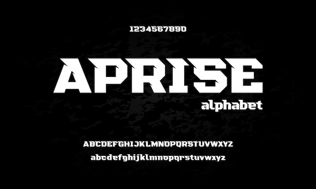 Moderne sportalphabetschrift. typografie urban style schriften für technologie, digital, film logo Premium Vektoren