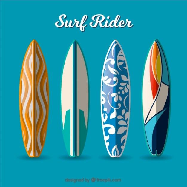 Moderne surf rider Kostenlosen Vektoren