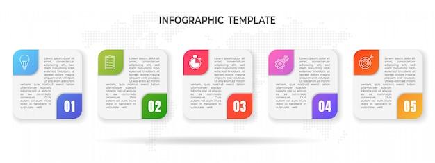 Moderne timeline-infografik-optionen. Premium Vektoren
