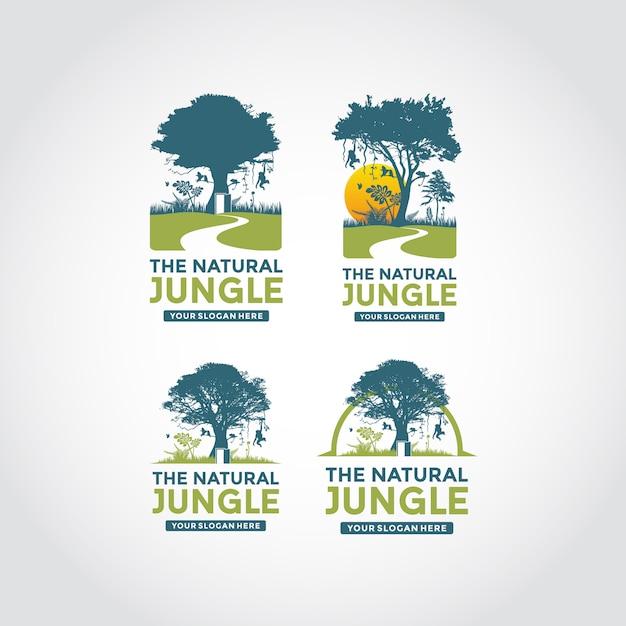 Moderne und minimalistische logo-vorlage Premium Vektoren