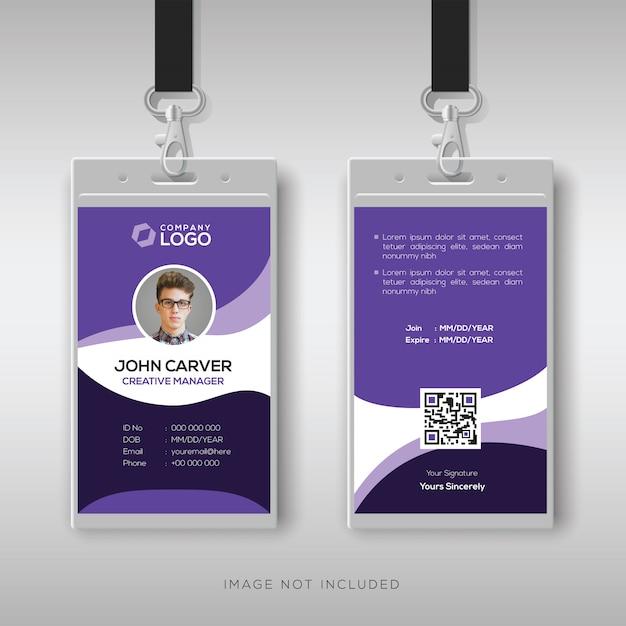 Moderne unternehmensausweis-designvorlage Premium Vektoren