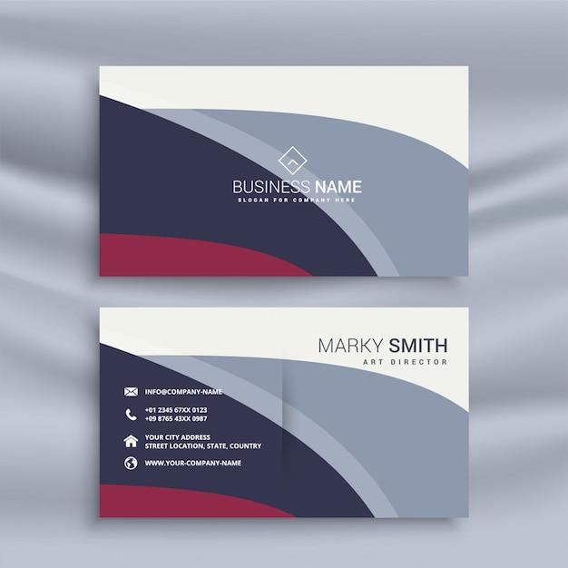 Moderne Visitenkarte Design Vorlage Download Der