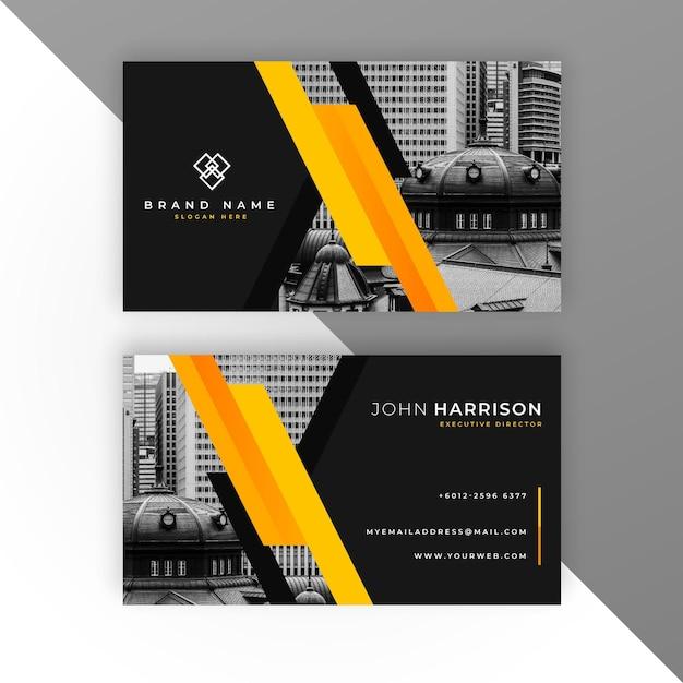 Moderne visitenkarte mit foto Kostenlosen Vektoren