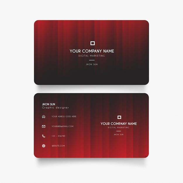 Moderne visitenkarte mit rot bauen ab Kostenlosen Vektoren