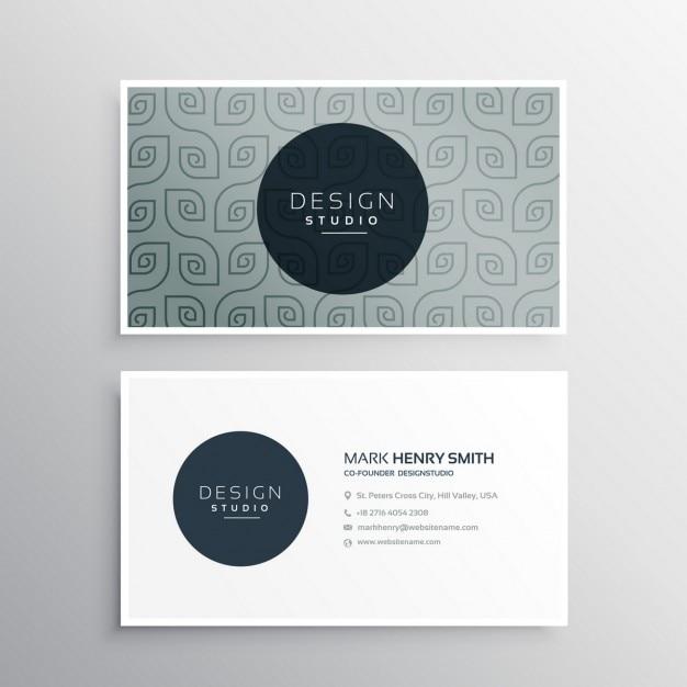 Moderne Visitenkarte Template Design Kostenlose Vektor
