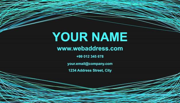 Moderne Visitenkarte Vorlage Design Vektor Corporate