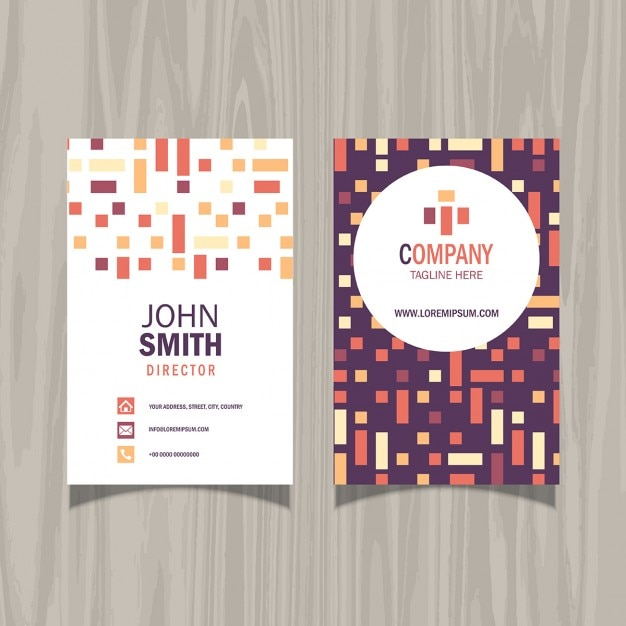 Moderne Visitenkarte Vorlage Mit Muster Design Kostenlose
