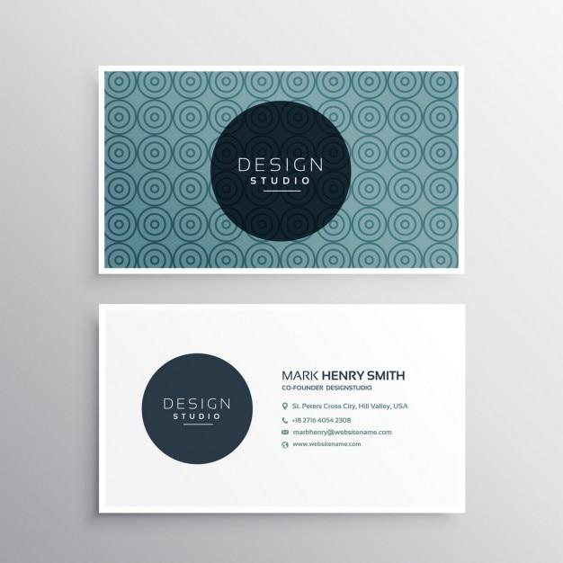 Moderne Visitenkarte Vorlage Mit Muster Kostenlose Vektor