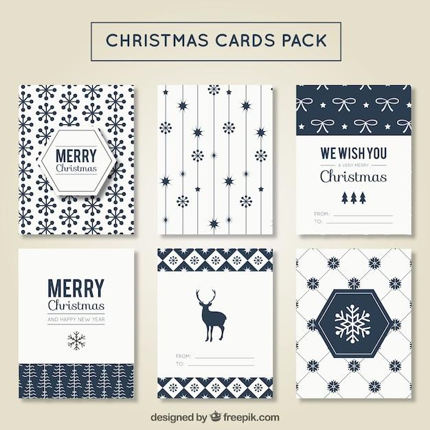 moderne weihnachtskarte pack kostenlose vektor. Black Bedroom Furniture Sets. Home Design Ideas