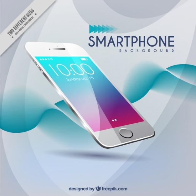 Moderne Welle Hintergrund der Smartphone Kostenlose Vektoren