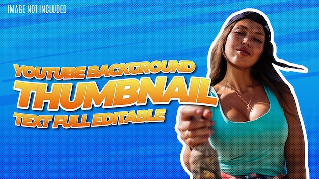 Moderne youtube thumbnail hintergrund design vorlage mit awesome text effect editable Kostenlosen Vektoren