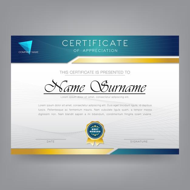 Moderne zertifikat-entwurfsvorlage Premium Vektoren