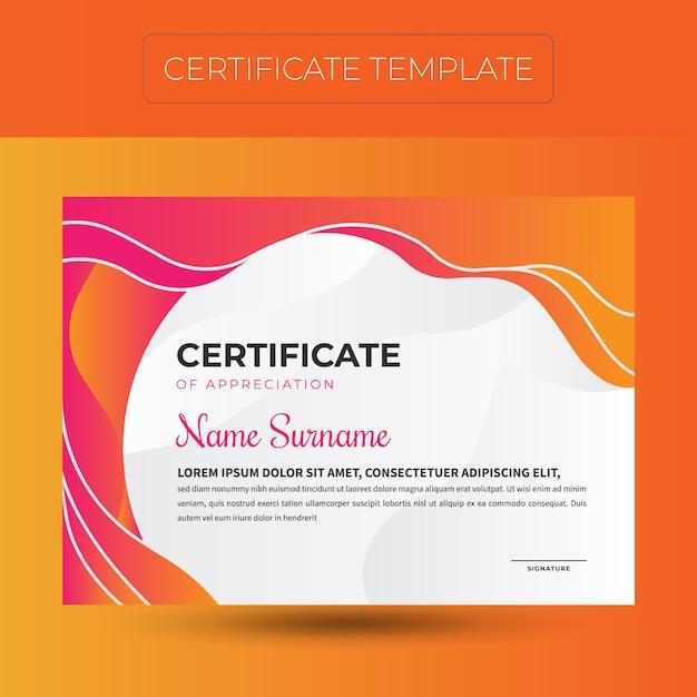 Moderne zertifikatvorlage Premium Vektoren