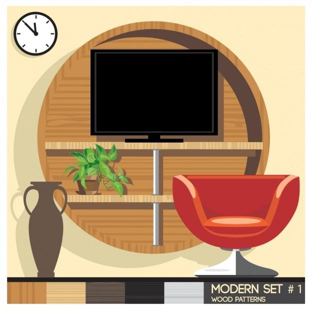 moderne zimmer download der kostenlosen vektor. Black Bedroom Furniture Sets. Home Design Ideas