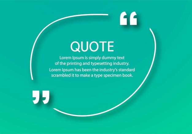 Moderne zitate kommunikationsvorlage Kostenlosen Vektoren